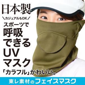息苦しくないフェイスカバー UVカットマスク 鼻穴付き 口穴付き 耳かけ 耳カバー 紫外線対策グッズ フェイスマスク紫外線対策マスク (80fa-001)No.019|atmys