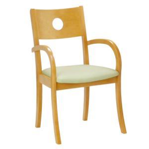 ダイニングチェア 北欧 ナチュラル 椅子 木製イス 背もたれ付き atom-style