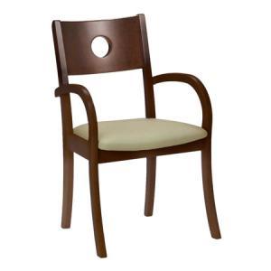 ダイニングチェア 北欧 ダークブラウン いす 木製イス 椅子 和室 背もたれ付き atom-style