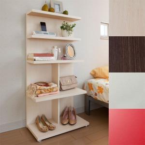 ディスプレイラック ミドルシェルフ オープンラック 飾り棚 間仕切り 木製 ダークブラウン|atom-style