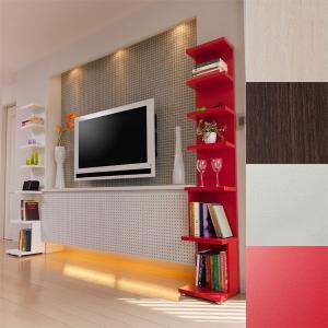 ディスプレイラック ハイシェルフ オープンラック 飾り棚 北欧 カフェ 薄型 木製|atom-style