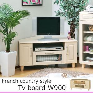 テレビ台 コーナー ローボード キッチン収納 フレンチカントリー 幅90 角 おしゃれ|atom-style