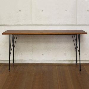ワークテーブル 幅150cm Work Brno AT-1540 ロングサイズ Table-150 ブラウン 作業机 ワークデスク アンティーク|atom-style