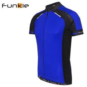 ファンキアー サイクルジャージ フィレンツェ Funkier Firenze ブルー Sサイズ 1418SSJ7306BLUS|atomic-cycle