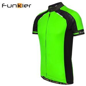 ファンキアー サイクルジャージ フィレンツェ Funkier Firenze グリーン Lサイズ 1418SSJ7306NGL|atomic-cycle