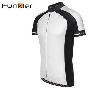 ファンキアー サイクルジャージ フィレンツェ Funkier Firenze ホワイト XLサイズ 1418SSJ7306WHTXL|atomic-cycle