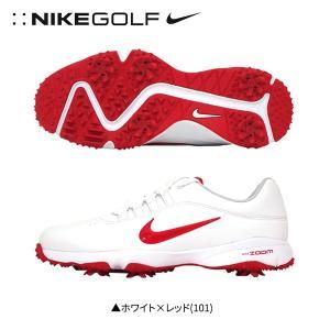 ナイキ ゴルフ エア ズーム ライバル 5 878958 ゴルフシューズ ホワイト×レッド(101)...