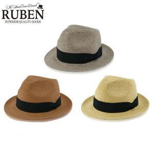 dc43040874a06b 「夏ゴルフの必需品/送料無料」 ルーベン ポリブレードハット 麦わら帽子 RUS-1190 ウォッシャブル 帽子