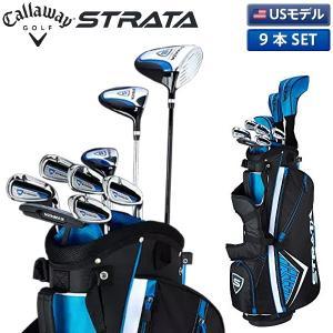 「USモデル」 キャロウェイ ゴルフ ストラータ クラブセット 9本組 (1W,3W,5U,I6-9,PW,PT) キャディバッグ付き  STRATA  初心者|atomic-golf