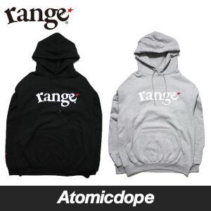 range champion basic logo pull over hoody プルオーバー パーカー 黒 灰 Black Grey レンジ