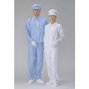 高品質クリーンウェア・ツーピースモデルの女性用ズボン単品販売です。  ■導電繊維5mmピッチストライ...