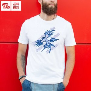 Tシャツ アオミノウミウシ bluedragon 海の生き物シリーズ 大人用サイズ|atoraskobo