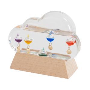 ガリレオ ガラスフロート 温度計 クラウド型 雲型 お天気 気象状況による変化を楽しむ サイエンス雑...