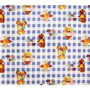 【1m単位】綿生地 切り売り ベアー クマ Jolly Bear かわいい 巾114cm 日本製 国産|atorie-moon