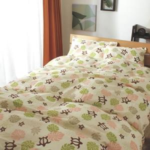 掛け布団カバー 掛布団カバー モンステラホヌ ハワイアン シングルサイズの写真