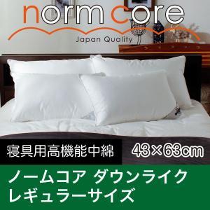 洗える レギュラーサイズ 43×63 防ダニ枕カバー付き 日本製 極上の快眠とリラックス 究極の枕 ノームコア ダクロン Down-likeダウンライク|atorie-moon