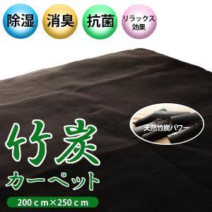 竹炭カーペット 抗菌 抗臭 マイナスイオン 200x250cm|atorie-moon
