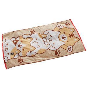 ねこがすき バスタオル ねこ ネコ 猫 かわいい 動物 三毛猫 綿100%|atorie-moon