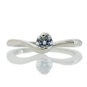 エンゲージリング 婚約指輪 ダイヤモンド プラチナ リング 0.2ct「Love knot」鑑定書付 F-VS2-H&CEX|atorie-shun
