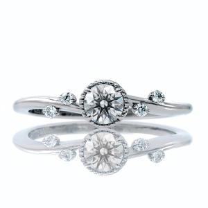 エンゲージリング 婚約指輪 ダイヤモンド プラチナ リング 0.2ct「Blossom」鑑定書付 D-VVS2以上-3EX|atorie-shun