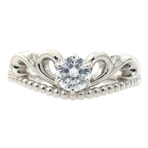 エンゲージリング 婚約指輪 ダイヤモンド プラチナ リング 0.3ct「Twinkle of tiara 1」0.3ct 鑑定書付 F-VS2-H&CEX|atorie-shun