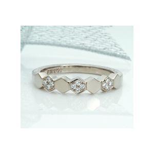 雪 結晶 ダイヤモンド リング 指輪 18金ホワイトゴールド 雪の結晶 ポイント5倍 プレゼント|atorie-shun