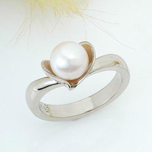 真珠 パール リング 指輪 ホワイトゴールド  ギフト プレゼント 母の日|atorie-shun