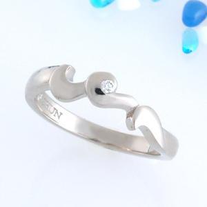 波 ダイヤモンド リング 指輪 18金 ホワイトゴールド  ギフト プレゼント|atorie-shun