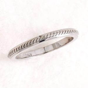 リング 指輪 18金 ホワイトゴールド シンプル 普段使い ギフト プレゼント ペアリング |atorie-shun