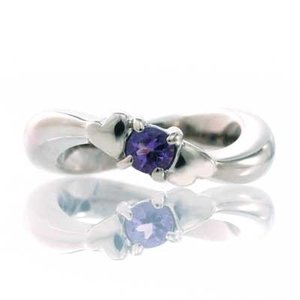 ハート ベビーリング 18金 ダイヤモンド 4月 誕生祝 出産祝 ギフト プレゼント|atorie-shun