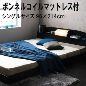 照明棚付きローベッド シングル!  ■お部屋を広く見せる、フロアタイプ 高さを抑えたデザインは狭いお...