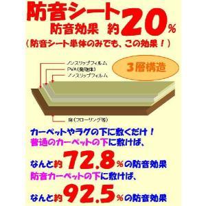 下に敷くだけで超防音・遮音ズレ防止・防音シート4.5畳用225x230cm(55x230+170x230)|atroomshop