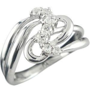 キュービックジルコニア リング 指輪 幅広 シルバー ストレート 宝石 送料無料 atrus