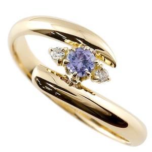 ピンキーリング 指輪 タンザナイト ダイヤモンド イエローゴールドk10k10 10金 ダイヤ ストレート 宝石|atrus