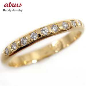 ピンキーリング ダイヤモンド リング イエローゴールドk10 指輪 ダイヤモンド 0.10ct k10 10金 ダイヤ ストレート 2.3 宝石|atrus