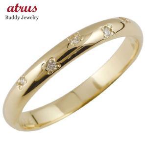 ピンキーリング ダイヤモンド リング イエローゴールドk10 指輪 k10 10金 ダイヤ ストレート 2.3 宝石|atrus