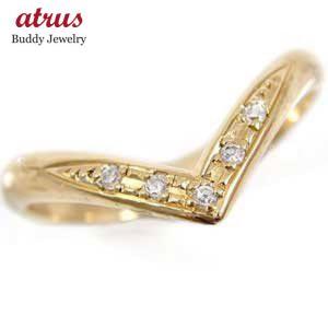 ピンキーリング ダイヤモンド リング ダイヤモンド イエローゴールドk10 指輪 k10 10金 ダイヤ ストレート 2.3 宝石|atrus