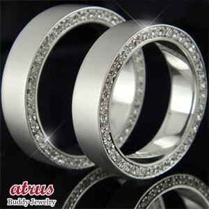 フルエタニティリング 結婚指輪 ペアリング ダイヤモンドリング マリッジリング ホワイトゴールドk18 指輪 18金 ダイヤ ストレート カップル|atrus
