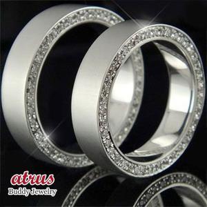 ペアリング プラチナ ダイヤモンド 結婚指輪 2本セット マリッジリング リング フルエタニティリング 高級 ダイヤ ストレート カップル|atrus