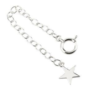 アジャスターチェーン ホワイトゴールドK18 スター 星 18金|atrus