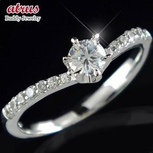 鑑定書付き 婚約指輪  エンゲージリング 立爪 ハードプラチナ ダイヤモンド ダイヤ 一粒 大粒 pt950 ストレート|atrus