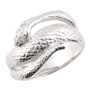 メンズ ダイヤモンド リング スネーク シルバー 蛇 指輪ダイヤ 男性用 宝石 送料無料 atrus