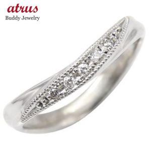 ピンキーリング プラチナリング ダイヤモンド リング ダイヤモンド 指輪 ミル打ち ミル ダイヤモンドリング ダイヤ ストレート 送料無料 atrus