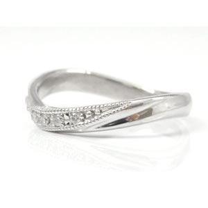 ペアリング プラチナ ダイヤモンド 結婚指輪 マリッジリング ミル打ち 結婚式 ダイヤ カップル|atrus|02