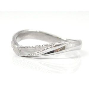 ペアリング プラチナ ダイヤモンド 結婚指輪 マリッジリング ミル打ち 結婚式 ダイヤ カップル|atrus|04