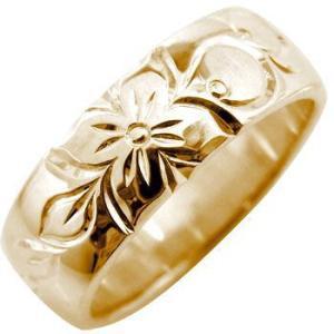 ハワイアンジュエリー 結婚指輪 エンゲージリング プロポーズリング ハワイアンリング 指輪 ピンクゴールドK18 婚約指輪 シンプル 人気  プレゼント 女性 ペア|atrus