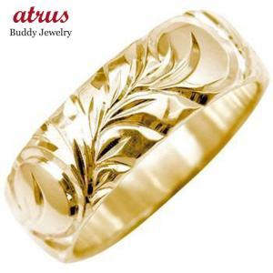 ハワイアンジュエリー 結婚指輪 エンゲージリング プロポーズリング 婚約指輪 ハワイアンリング 指輪 ピンクゴールドK18 シンプル 人気  女性 送料無料|atrus