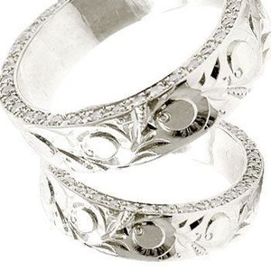 結婚指輪 ハワイアンジュエリー ダイヤモンド マリッジリング ペアリング プラチナ ダイヤ シンプル 人気|atrus
