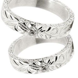 結婚指輪 プラチナリング ハワイアン ダイヤモンドペアリング マリッジリング 結婚記念リング ミル打ち ミル ダイヤ シンプル 人気|atrus