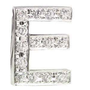 ダイヤモンド イニシャルブローチ E ピンブローチ ラペルピン ダイヤ 0.18ct ホワイトゴールドK18 人気ブローチ 18金 タックピン 送料無料|atrus